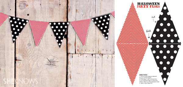 Printable Halloween party flags