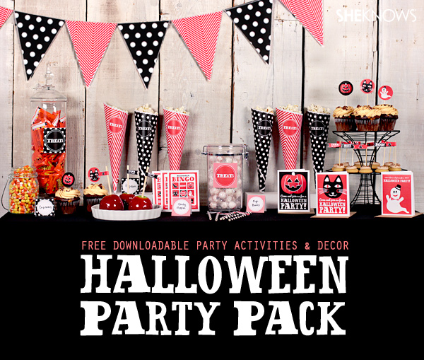 SheKnows spook-tackular party printables