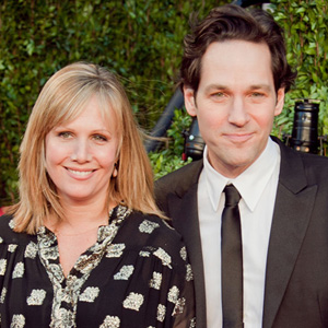 Paul Rudd with wife