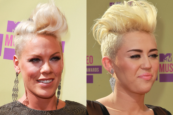 This Is Big F Ing Deal >> Pink thinks Miley Cyrus looks amazing