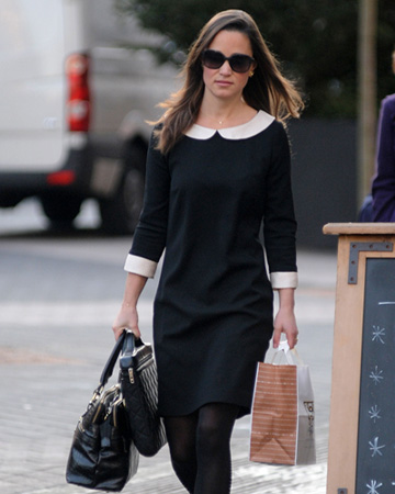 Pippa Middleton wearing peter pan collar dress