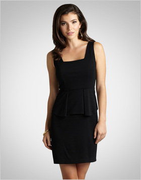 Dress up a classic LBD with Peplum