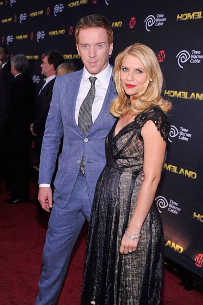 Pregnant Claire Danes at Homeland premiere