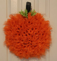 Pumpkin mesh wreath