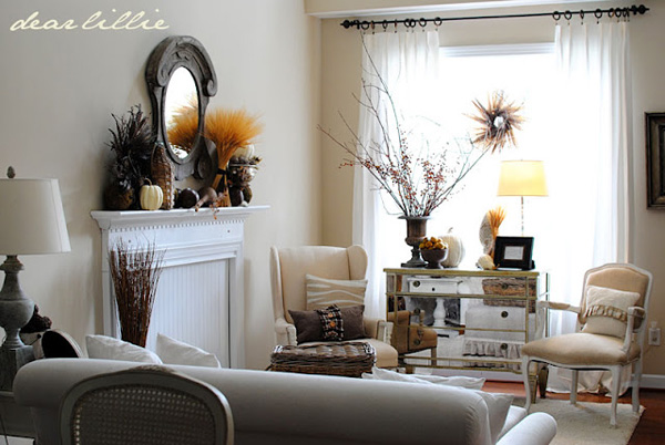 Dear Lillie -- Room decorated for Fall