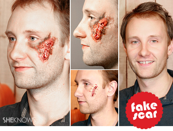 Halloween fake scar and wound tutorial