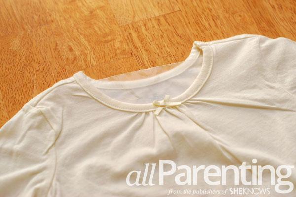 Sharpie tie dye shirt step 1