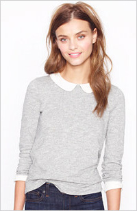 J. Crew collar tee, $75