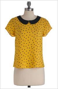 Modcloth yellow top, $30