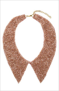 Topshop beaded collar, $30