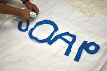 Soap letter cut outs