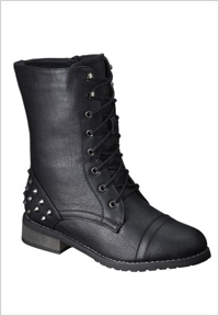 Black biker boots