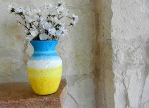 Sun and sky vase