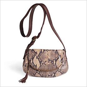 printed reptile crossbody bag