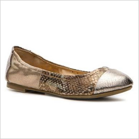 snakeskin print flats 