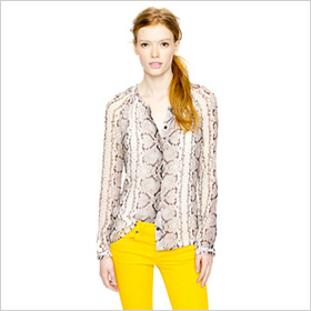 Bold blouse in snake print