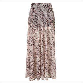 snake print maxi
