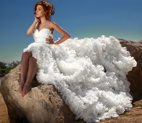 Third place toilet paper wedding dress