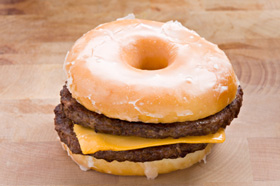 Glazed Doughnut burger