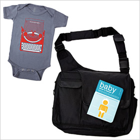 Uncommon Goods Pinstripe Dad-to-Be Set, $125