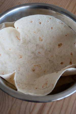 Tortilla in bowl
