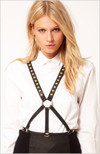 My pick: Stud detail harness belt, $34, ASOS.com