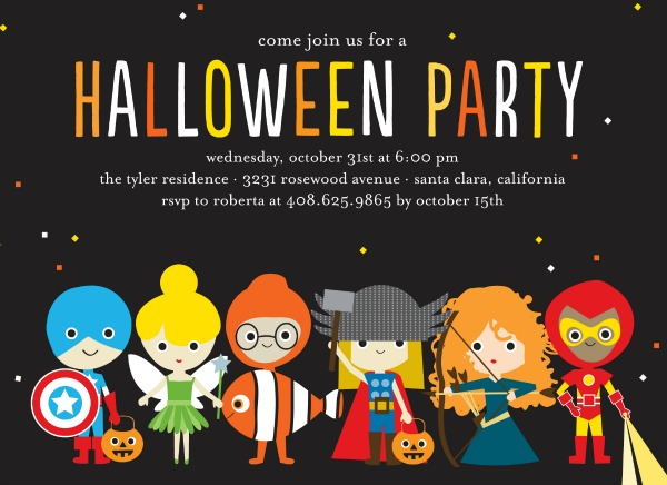 Trick or Treaters invitation
