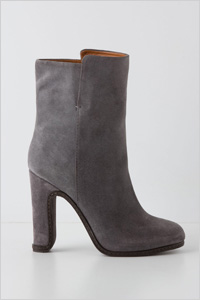 grey suede mid-booties