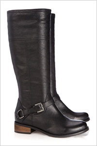classic black leather riding boots
