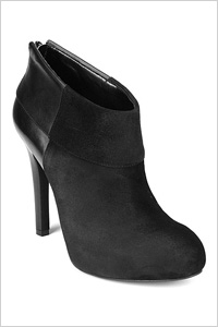 suede round toe ankle booties