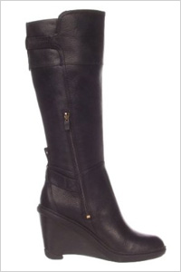 sleek knee-high wedge boots