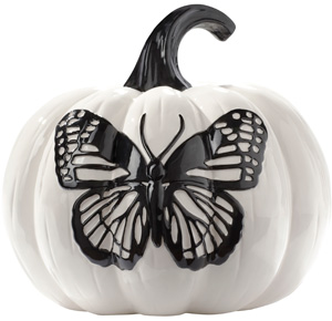 White glazed pumpkin