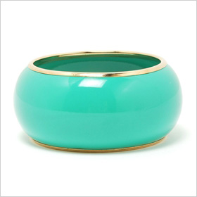 Metal Trim Plastic Bangle