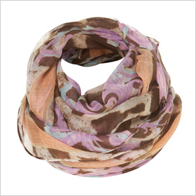 Pastel Animal Border Scarf