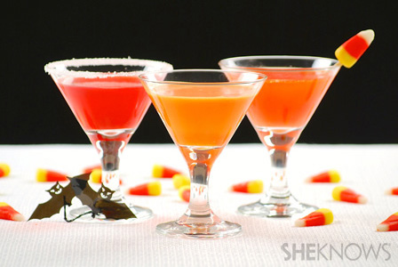 Candy inspired Halloween cocktails