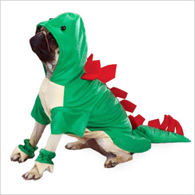 EntirelyPets dogosaurus rex costume for dogs