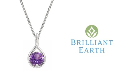 Brilliant Earth Amethyst Twist Pendant
