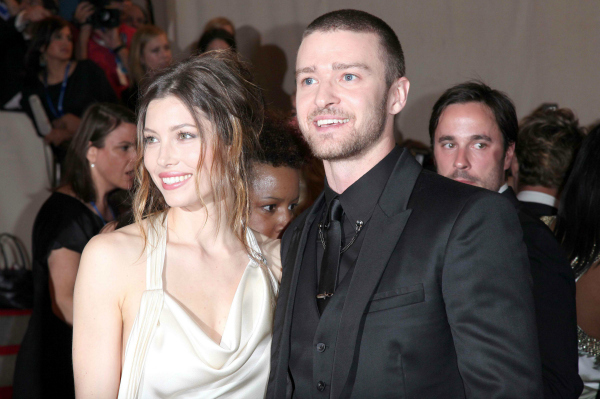 Jessica Biel and Justin Timberlake at the Costume Institute Gala Benefit