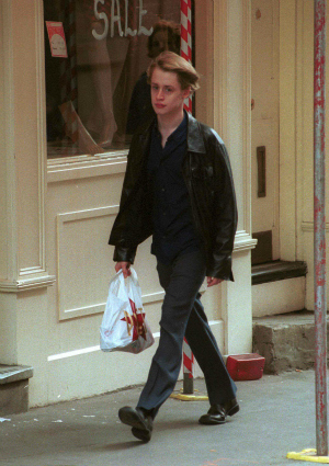Macauley Culkin in New York City