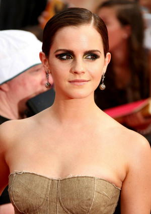 Emma Watson at the Premiere of Harry Potter and the Deathly Hallows