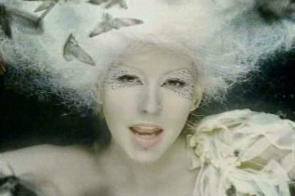 "Christina Aguilera in the Video for her Single ""Fighter"""