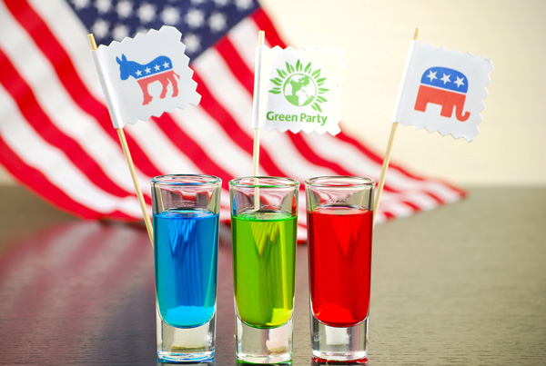 Election Day Jolly Rancher vodka cocktail shooters