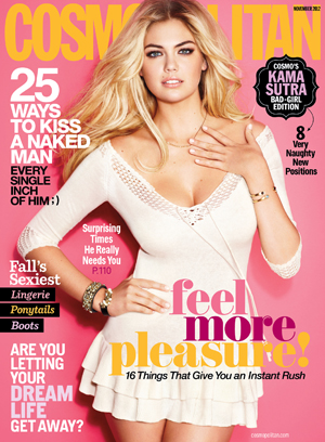 Kate Upton covers Cosmo
