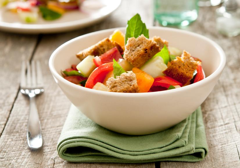 Sourdough makes a salad even better