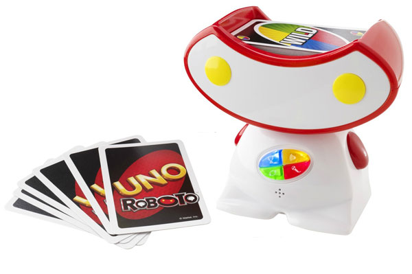 Let a cute robot spice up your UNO card game!