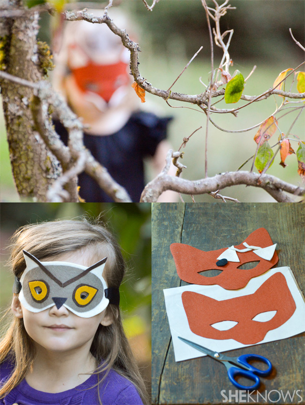 woodland animal masks template - diy felt animal masks
