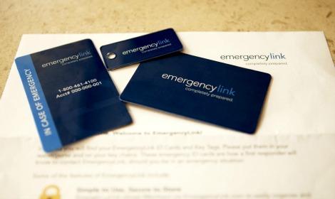 Emergency link cards