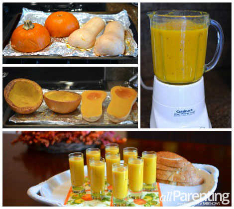 Fall squash soup shooters collage