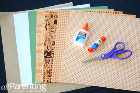 Fun paper pumpkin tutorial materials