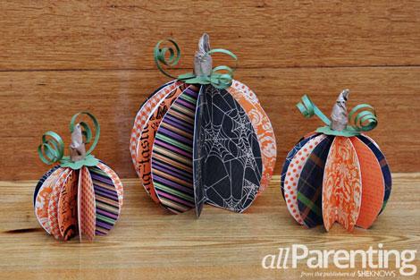 Fun paper pumpkin tutorial